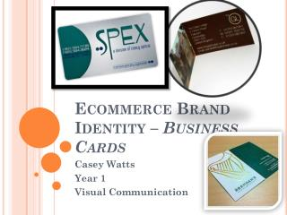 Ecommerce Brand Identity – Business Cards
