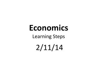 Economics Learning Steps
