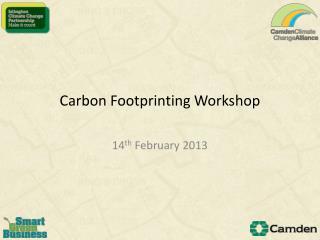 Carbon  Footprinting  Workshop