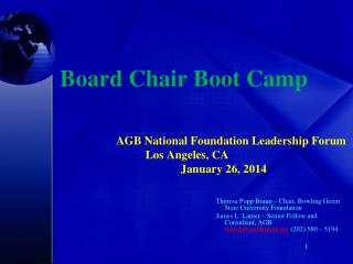 Board Chair Boot Camp