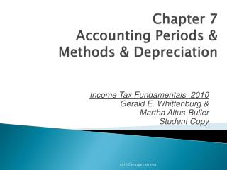 Chapter 7 Accounting Periods & Methods & Depreciation