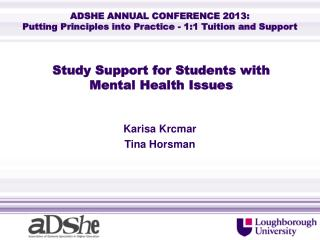Study Support for Students with  Mental Health Issues