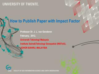 How to  P ublish  P aper with Impact Factor