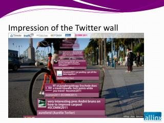 Impression of the Twitter wall