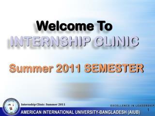 Welcome To INTERNSHIP CLINIC