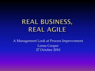 Real Business,  Real Agile