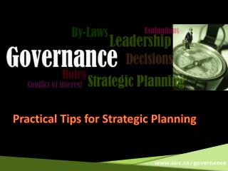 Practical Tips for Strategic Planning