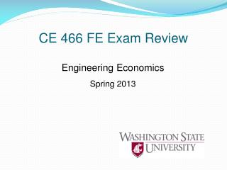CE 466 FE Exam Review