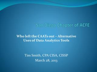 San Diego Chapter of ACFE