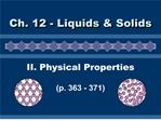 ii. physical properties  p. 363 - 371