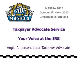 Taxpayer Advocate Service Your Voice at the IRS