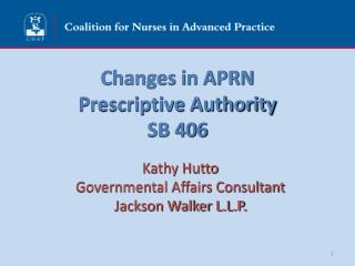 Changes in APRN  Prescriptive Authority SB 406