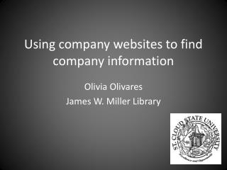 Using  company websites  to find company information