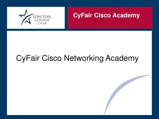 CyFair Cisco Networking Academy