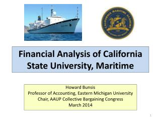 Financial Analysis of California State University, Maritime