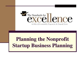 Planning the Nonprofit Startup Business Planning