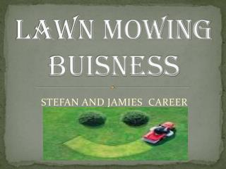 Lawn mowing BUISNESS