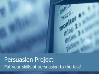 Persuasion Project