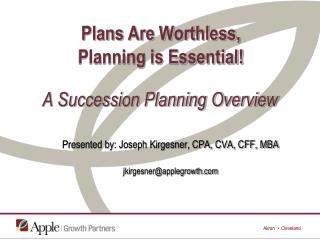 A Succession Planning Overview