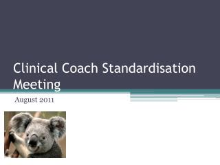 Clinical Coach Standardisation Meeting