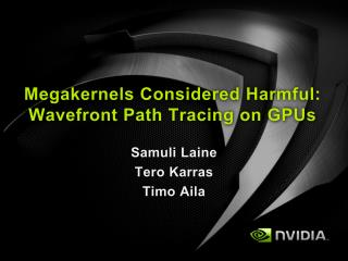 Megakernels Considered Harmful: Wavefront Path Tracing on GPUs