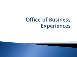 Office of Business Experiences