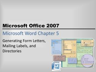 Microsoft Word Chapter 5