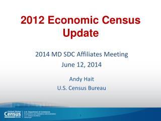 2012 Economic Census Update