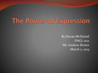 The Power of Expression