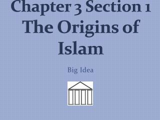 Chapter 3 Section 1   The Origins of Islam