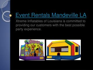 Party Rental Companies Covington LA