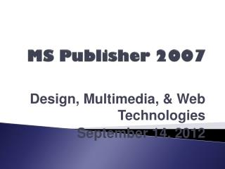 MS Publisher 2007