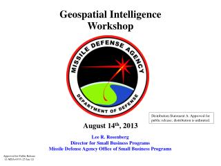 Geospatial Intelligence Workshop