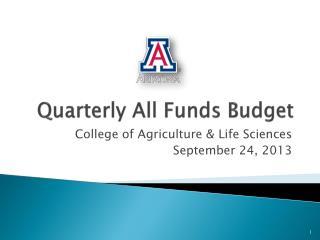 Quarterly All Funds Budget