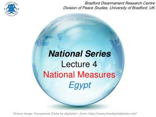 National Series Lecture 4  National Measures Egypt