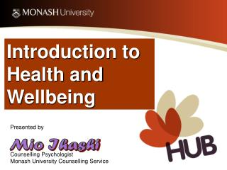 Introduction to Health and Wellbeing