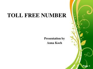 is 855 toll free