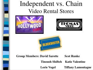 Independent vs. Chain Video Rental Stores