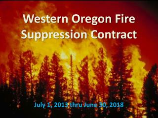 Western Oregon Fire  Suppression Contract