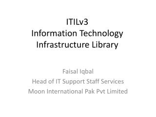 ITILv3  Information Technology Infrastructure Library