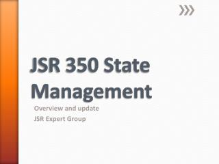 JSR 350 State Management