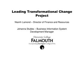 Leading Transformational Change Project