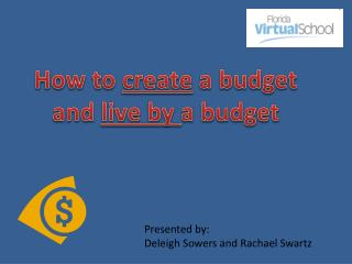 How to  create  a budget  and live by  a budget