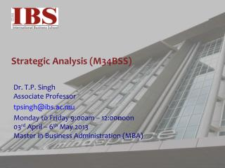 Strategic Analysis (M34BSS)