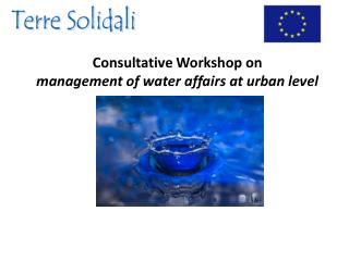 Consultative Workshop on management of water affairs at urban level