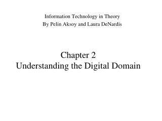 Chapter 2 Understanding the Digital Domain