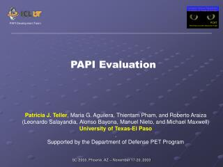 PAPI Evaluation