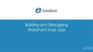 Building and Debugging  SharePoint Timer Jobs
