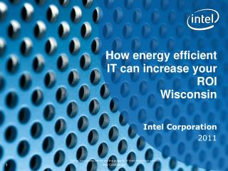 How energy efficient IT can increase your ROI  Wisconsin
