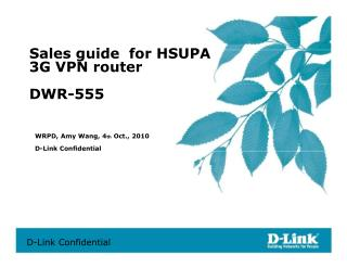 Sales guide  for HSUPA  3G VPN router